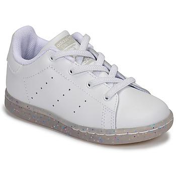 Sko Pige Lave sneakers adidas Originals STAN SMITH EL I Hvid / Glitter