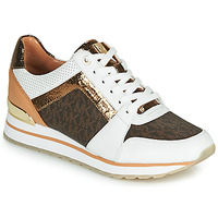 Sko Dame Lave sneakers MICHAEL Michael Kors BILLIE TRAINER Hvid / Brun