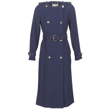 textil Dame Trenchcoats MICHAEL Michael Kors COLLARLESS TRENCH Marineblå