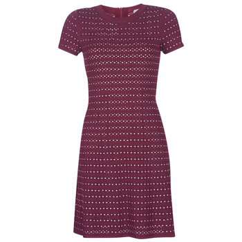 textil Dame Korte kjoler MICHAEL Michael Kors EMBELL FLARE MINI DRS Bordeaux