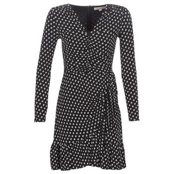 textil Dame Korte kjoler MICHAEL Michael Kors ELV DOT SHRD LS DRS Sort