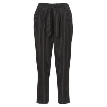 textil Dame Lærredsbukser Betty London LAALIA Sort / Hvid