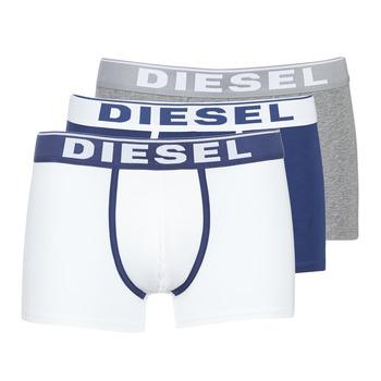 Undertøj Herre Trunks Diesel DAMIEN Hvid / Marineblå / Grå