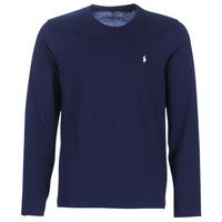 textil Herre Langærmede T-shirts Polo Ralph Lauren L/S CREW-CREW-SLEEP TOP Marineblå