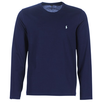 textil Herre Langærmede T-shirts Ralph Lauren L/S CREW-CREW-SLEEP TOP Marineblå