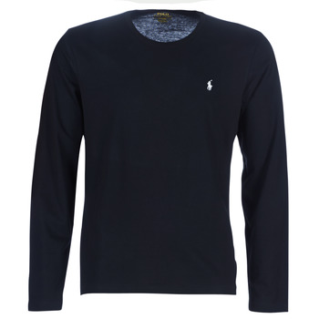 textil Herre Langærmede T-shirts Polo Ralph Lauren L/S CREW-CREW-SLEEP TOP Sort