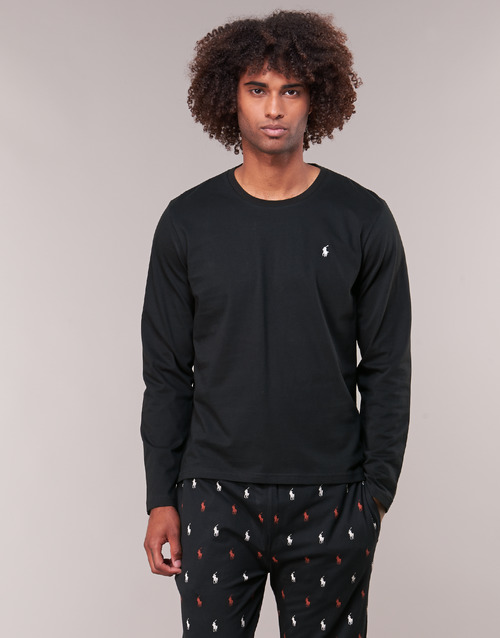 textil Herre Langærmede T-shirts Polo Ralph Lauren L/S CREW-CREW-SLEEP TOP Sort