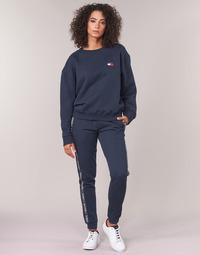 textil Dame Træningsbukser Tommy Hilfiger AUTHENTIC-UW0UW00564 Marineblå