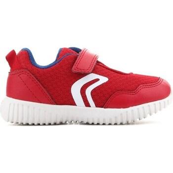 Sko Børn Lave sneakers Geox B Waviness Rød