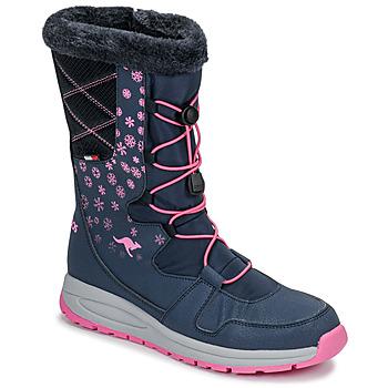 Sko Dame Vinterstøvler Kangaroos K-GLAZE RTX Marineblå / Pink