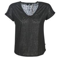 textil Dame T-shirts m. korte ærmer Le Temps des Cerises OKINAWA Sort