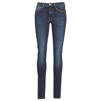 textil Dame Smalle jeans Le Temps des Cerises PULP HIGH SLIM Blå