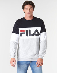 textil Herre Sweatshirts Fila STRAIGHT BLOCKED CREW Grå / Sort