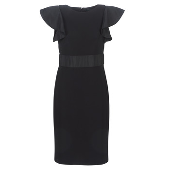 textil Dame Korte kjoler Lauren Ralph Lauren JERSEY SLEEVELESS COCKTAIL DRESS Sort