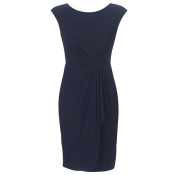 textil Dame Korte kjoler Lauren Ralph Lauren RUCHED CAP SLEEVE DRESS Marineblå