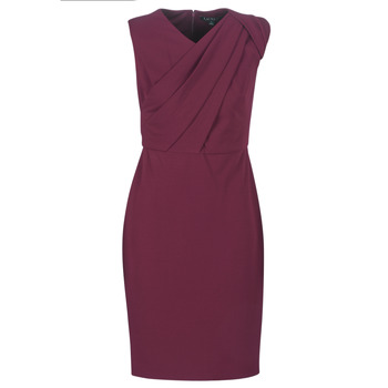 textil Dame Lange kjoler Lauren Ralph Lauren RUBY SLEEVELESS DAY DRESS Bordeaux