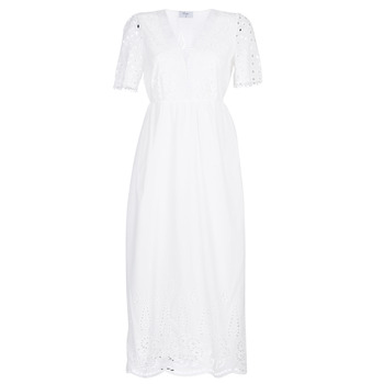 textil Dame Lange kjoler Betty London KATARELLE Hvid