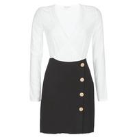 textil Dame Korte kjoler Moony Mood LUCE Sort / Hvid