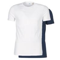 textil Herre T-shirts m. korte ærmer Levi's SLIM 2PK CREWNECK 1 Marineblå / Hvid