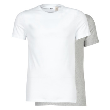 textil Herre T-shirts m. korte ærmer Levi's SLIM 2PK CREWNECK 1 Hvid / Grå