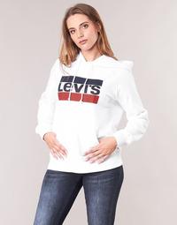 textil Dame Sweatshirts Levi's GRAPHIC SPORT HOODIE Hvid