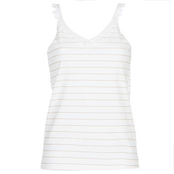 textil Dame Toppe / Bluser Betty London KATACEL Hvid / Gylden
