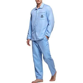 textil Herre Pyjamas / Natskjorte Impetus 1563309 789 Blå