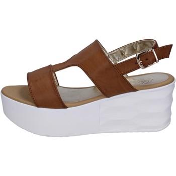 Sko Dame Sandaler Querida sandali pelle sintetica Marrone