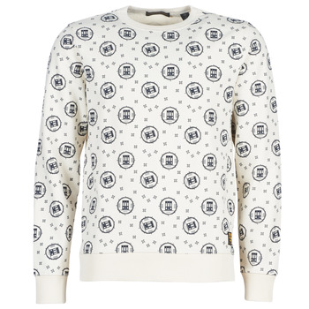 textil Herre Sweatshirts Scotch & Soda CREWNECK SWEAT WITH LOGO ALL-OVER PRINT Hvid
