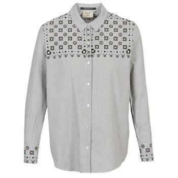 textil Dame Skjorter / Skjortebluser Maison Scotch BUTTON UP SHIRT WITH BANDANA PRINT Grå
