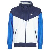 textil Herre Vindjakker Nike M NSW HE WR JKT HD Blå / Hvid