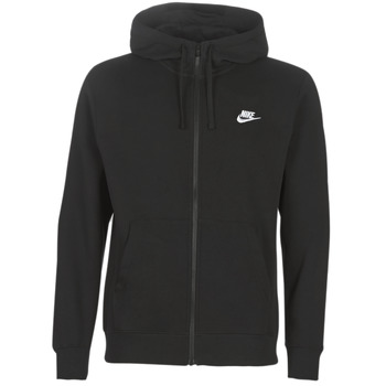 textil Herre Sweatshirts Nike M NSW CLUB HOODIE FZ BB Sort