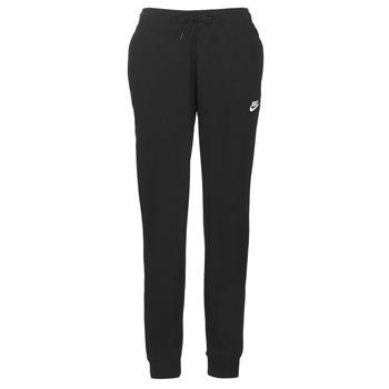 textil Dame Træningsbukser Nike W NSW ESSNTL PANT REG FLC Sort