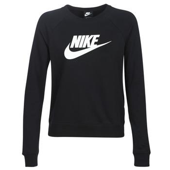 textil Dame Sweatshirts Nike W NSW ESSNTL CREW FLC HBR Sort