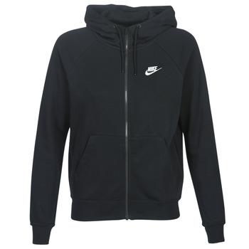 textil Dame Sweatshirts Nike W NSW ESSNTL HOODIE FZ FLC Sort