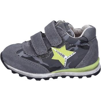 Sko Dreng Lave sneakers Enrico Coveri sneakers camoscio tessuto Grigio