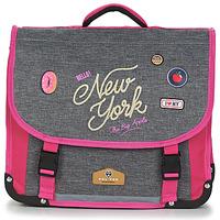Tasker Pige Skoletasker Back To School POL FOX NEW YORK CARTABLE 38 CM Grå / Pink