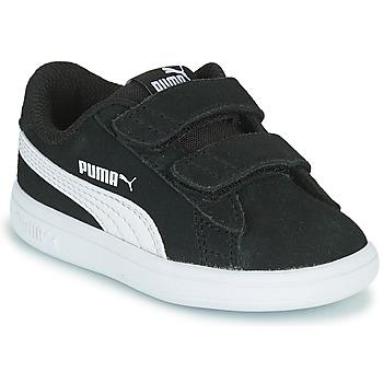 Sko Børn Lave sneakers Puma SMASH INF Sort