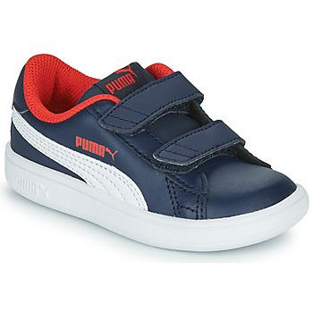 Sko Dreng Lave sneakers Puma SMASH Marineblå