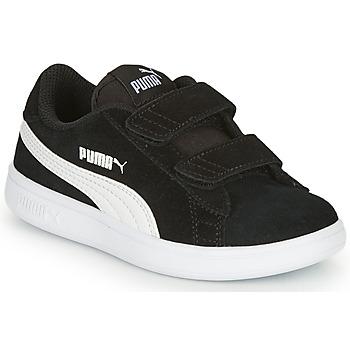 Sko Børn Lave sneakers Puma SMASH Sort