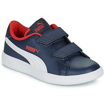 Sko Dreng Lave sneakers Puma SMASH V2 L V PS Marineblå