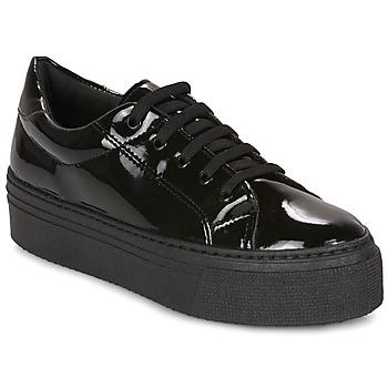 Sko Dame Lave sneakers André SODA Sort / Lakeret