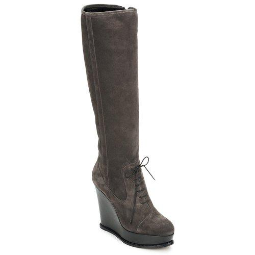 Sko Dame Chikke støvler Moschino Cheap & CHIC CA2603 Muldvarpegrå