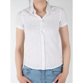 textil Dame Skjorter / Skjortebluser Wrangler Sammy W5021CA12 white