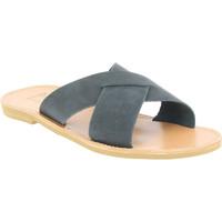 Sko Herre Tøfler Attica Sandals ORION NUBUCK BLACK nero