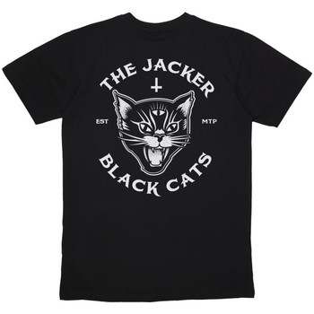 textil Herre T-shirts m. korte ærmer Jacker Black cats Sort