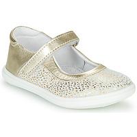 Sko Pige Ballerinaer GBB PLACIDA Hvid / Guld