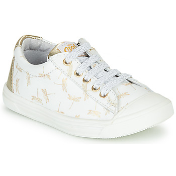 Sko Pige Lave sneakers GBB MATIA Hvid / Guld