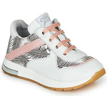 Sko Pige Lave sneakers GBB LELIA Hvid / Sort / Pink