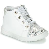 Sko Pige Høje sneakers GBB FAMIA Hvid / Sølv